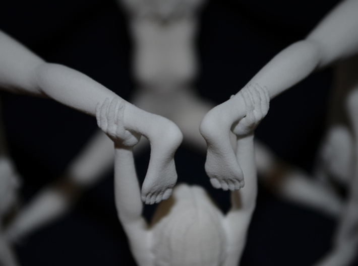 The Human Cube - Male element - Naked Geometry 3d printed Hands and feet click together