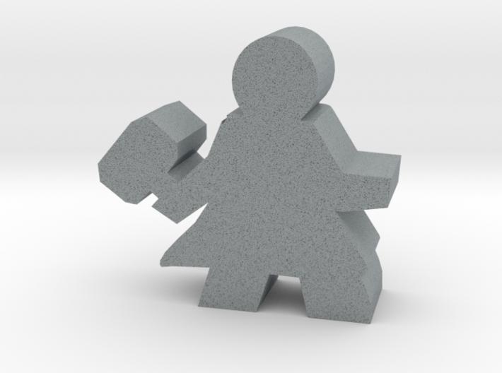 Warrior Hero Meeple, With Hammer 3d printed