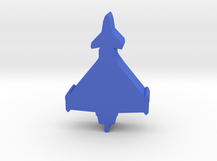 Game Piece, Blue Force Euro Fighter 3d printed