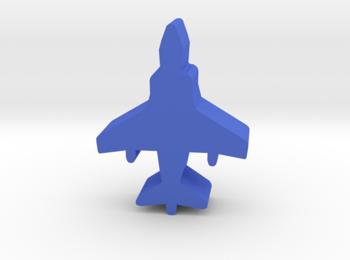Game Piece, Blue Force Harrier Fighter 3d printed