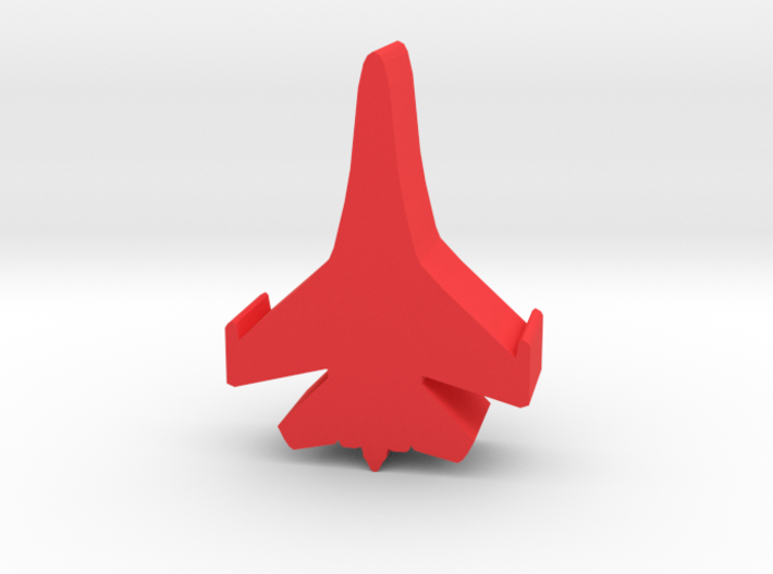 Game Piece, Red Force, Flanker Fighter 3d printed
