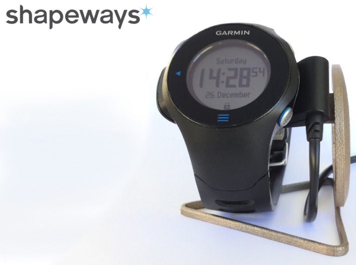 Garmin Forerunner 610 Watch Stand 3d printed Magnetic and very solid