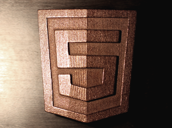 HTML5 Belt Buckle 3d printed Top Down Hero Shot