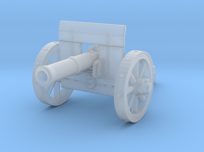 28mm Light fantasy cannon with shield 3d printed