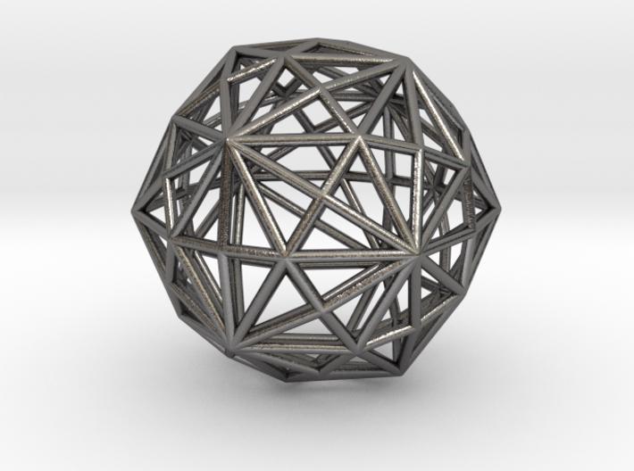 0316 Disdyakis Triacontahedron E (a=1cm) #001 3d printed