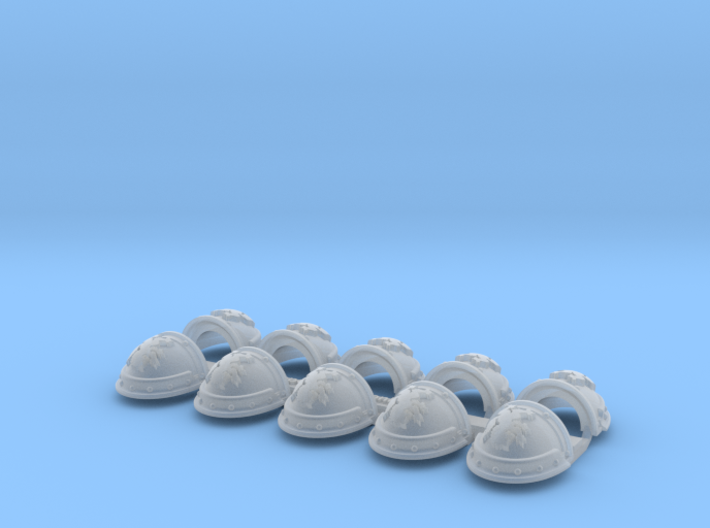 Wolf Rampant - Gen3:Iron Left Shoulder x10 3d printed