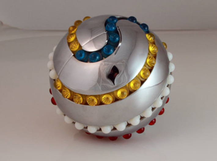 Silver Orb - 30 BEADS ONLY (looser version) 3d printed
