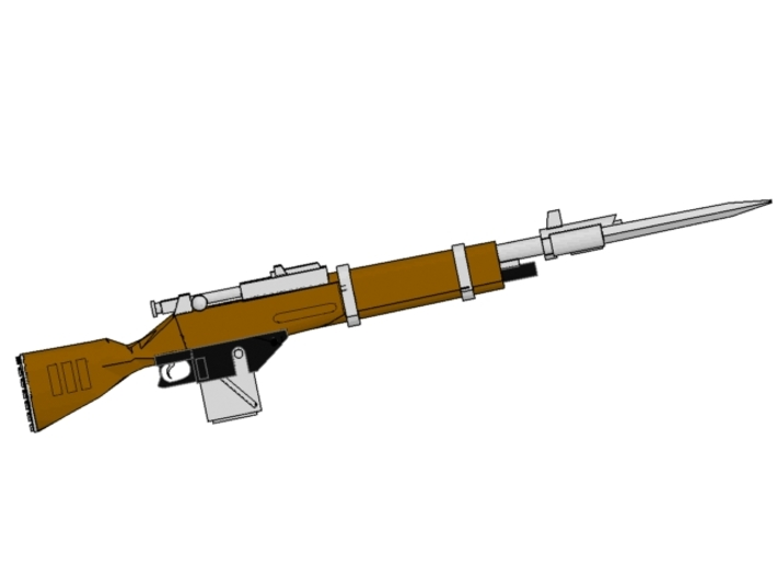 x10 Steampunk «Mosin M1891» laser rifles for 28mm  3d printed recommended paint sceme