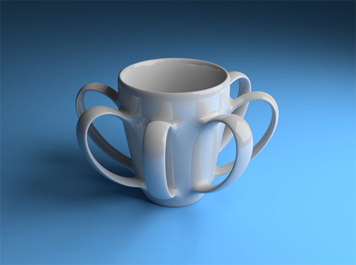 Coffee mug #4 XL - Many Handles 3d printed