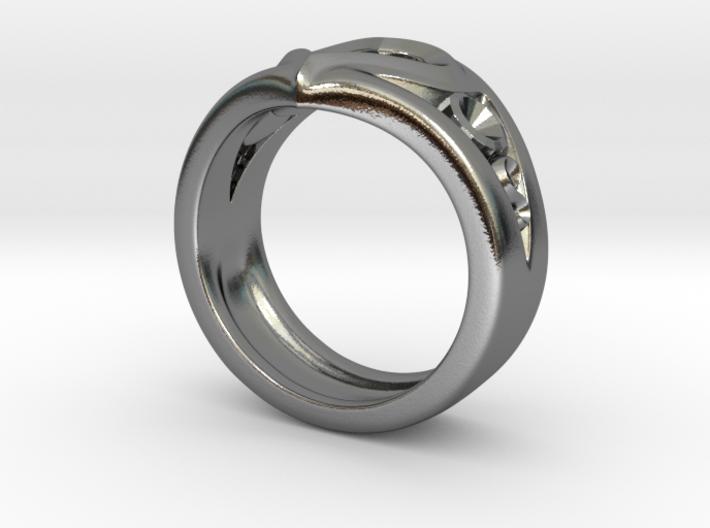 Heart Ring(Inner diameter of ring 16.7mm) 3d printed