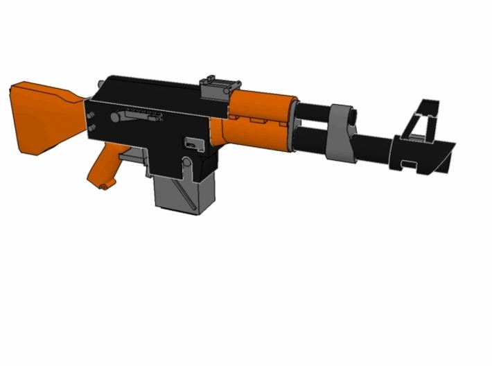 x10 SciFi LK-47 laser rifles for 28mm miniatures 3d printed