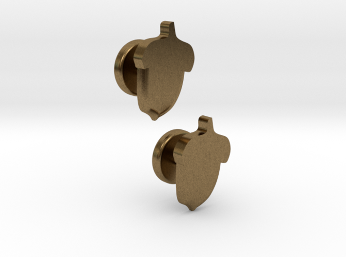 Acorn Cufflinks 3d printed
