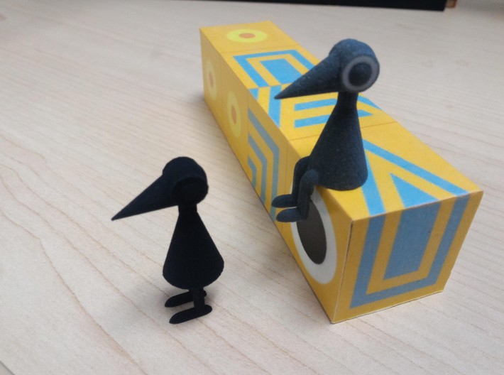 Crow Person (standing) 3d printed