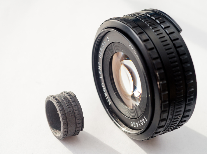 (Size 8) Lens Ring  3d printed