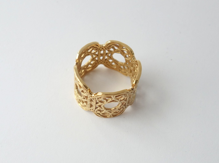Arabesque Motif Band - Size 9 3d printed