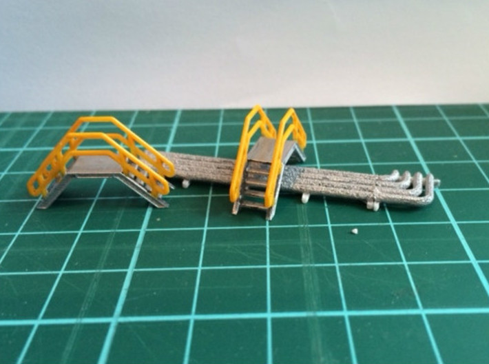 HO 2x Crossover Stairs 3d printed N scale (1:160) version of this model