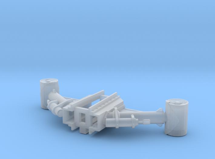Depth Charge Gun Pair 3d printed