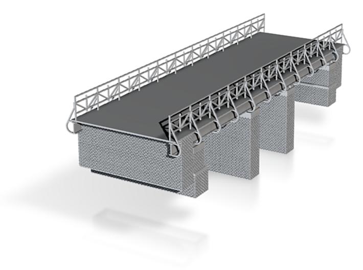 European Roadway Railroad Bridge Z Scale 3d printed two Lane Roadway Bridge over single track z scale