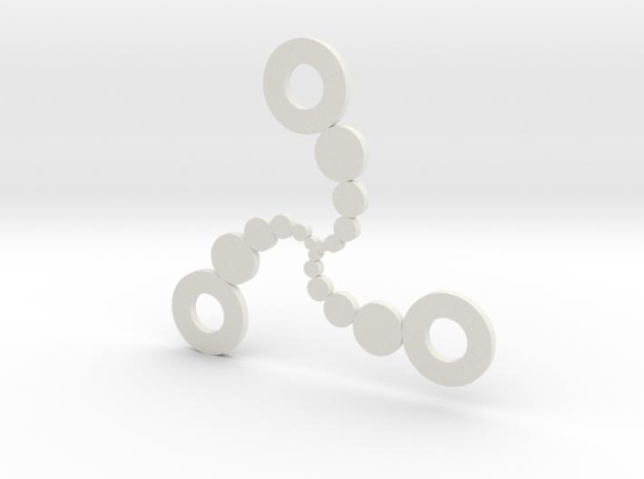 Circle Spiral Pendant 3d printed