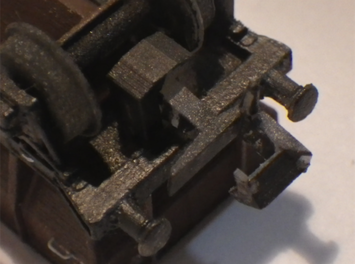 Couplings 10 3d printed Fitted to my GWR Designed P22 hopper. Wheels are printed too.