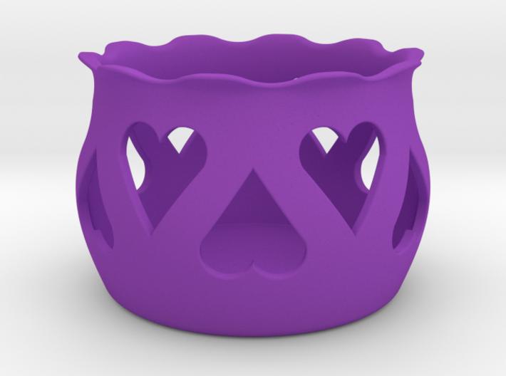 Tea Light Holder Heart 3d printed