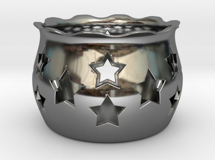 Tea Light Holder Star 3d printed