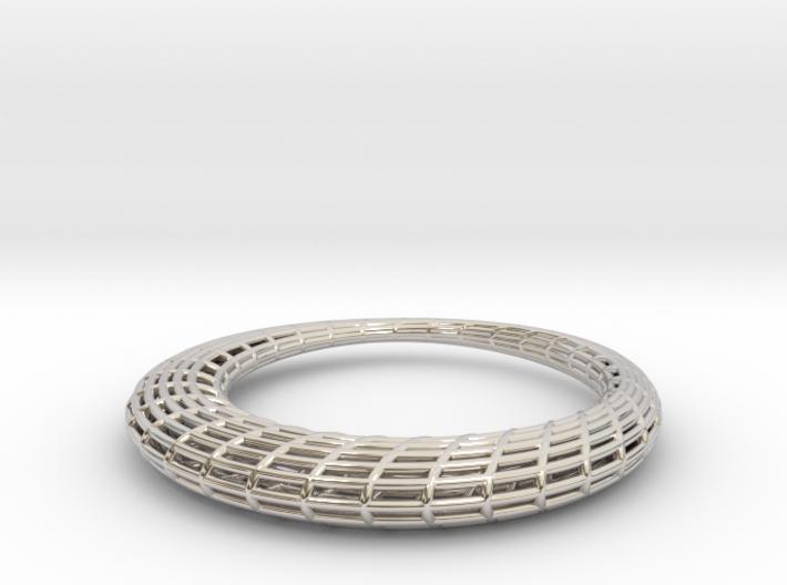 Elliptic Mesh pendant 3d printed