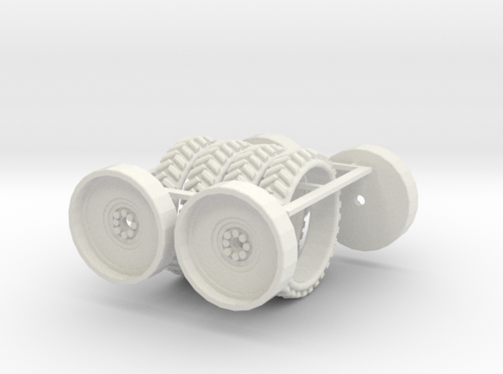 1/64 54in Tire And Rim set of 4 3d printed