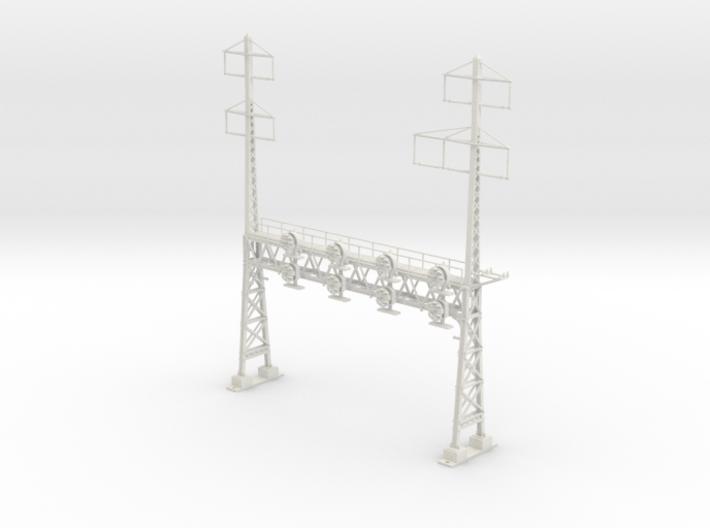 HO Scale PRR W-signal LATTICE 4 Track  W 2-3 PHASE 3d printed