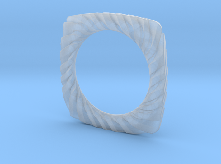 PILLOW CARVED BANGLE 2.5 ID 3d printed