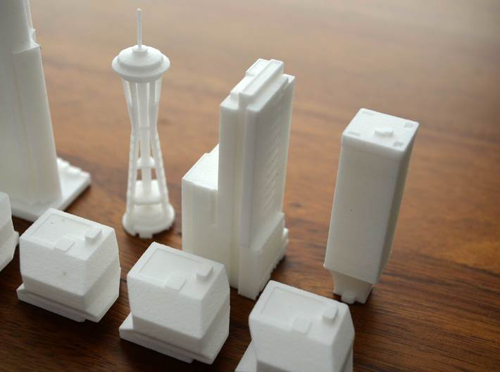 Seattle Rook Building 3d printed