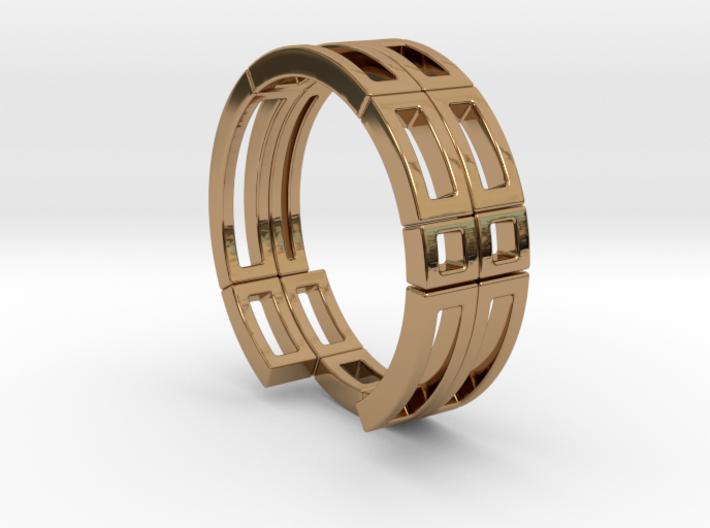 Geometri-k ring Size T 3d printed