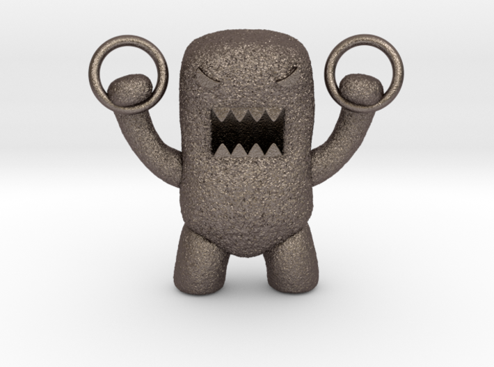 Domo Monster doing exercises with rings 3d printed