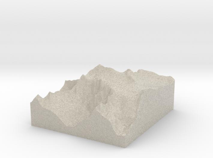 Model of Monte Adamello 3d printed