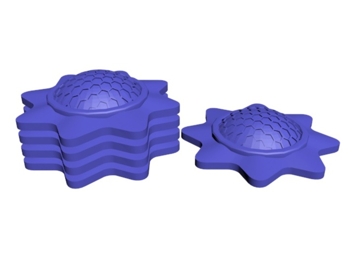 Stackable Shield Token for X-Wing Miniatures 3d printed Stackable!