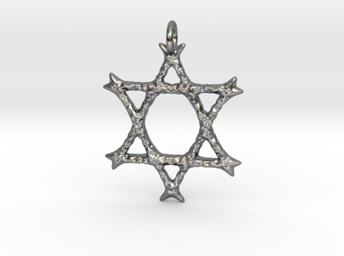 Star of David Pendant 03 3d printed