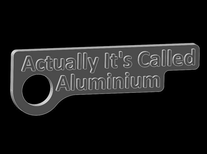 Aluminum keychain 3d printed