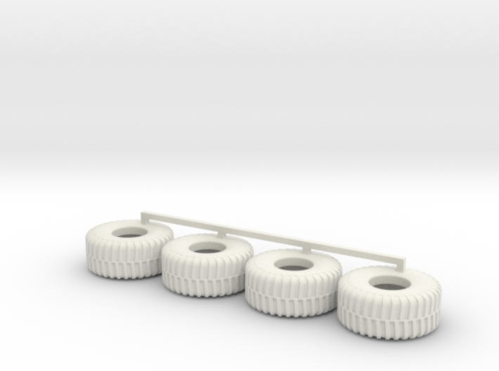 HO scale Heavy Equipment Tires 3d printed