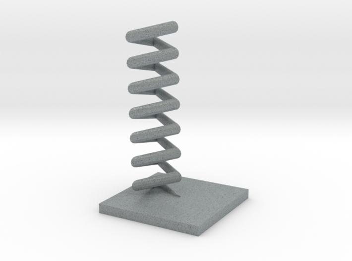 Triangular helix 3d printed