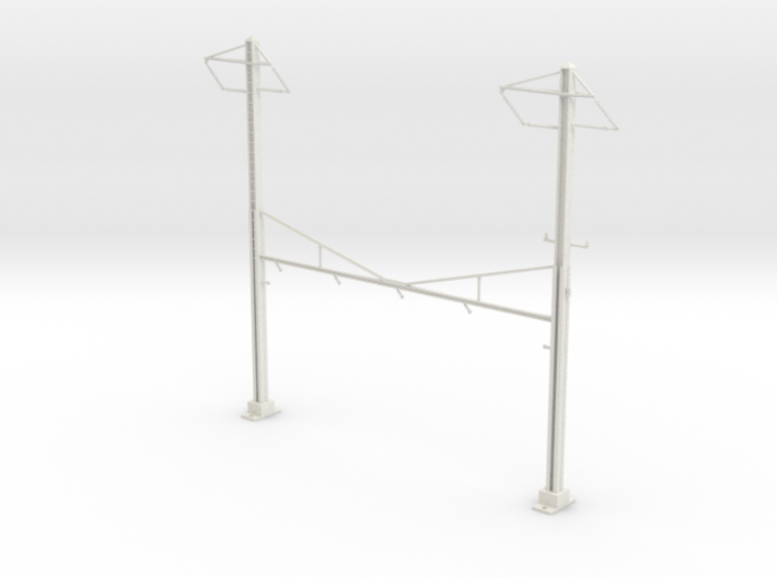 PRR CATENARY HO SCALE 4TRK CURVED STEADY 2 PH 3d printed