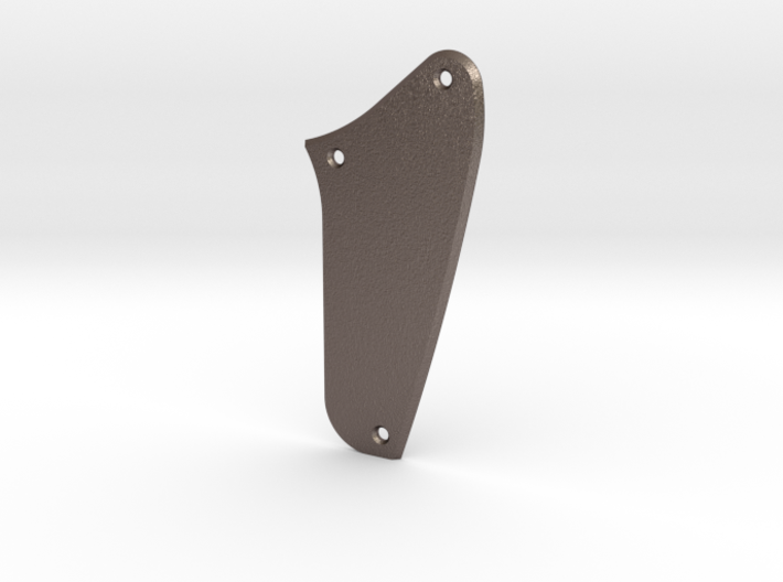 LH Jag Rhythm Circuit Control Plate - Blank Bevel 3d printed