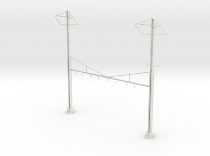 HO Scale PRR K Braced 4 Track Y BRACKET 2PH 3d printed