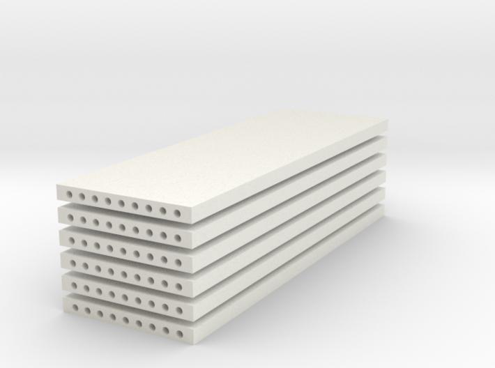 'N Scale' - (6) Precast Panel - 30'x10'x1' 3d printed