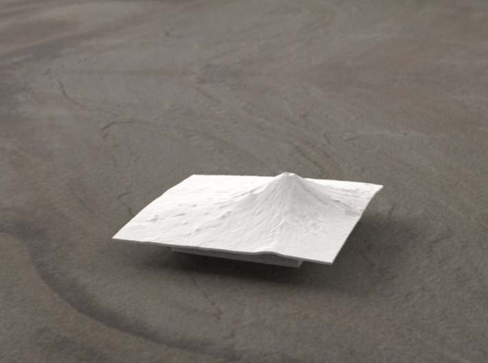 3''/7.5cm Mt. Fuji, Japan 3d printed Radiance rendering of geometry from the East