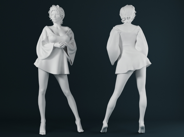 Skirt Girl-006 scale 1/24 3d printed