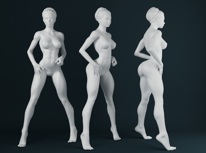 1:24 Strong Woman 009 3d printed