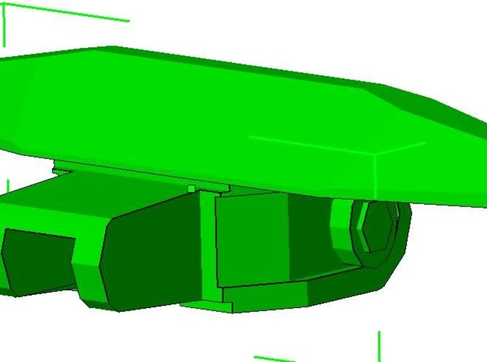1:87 LGP Tracks HO Bulldozer 3d printed