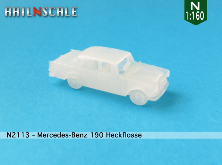 Mercedes-Benz 190 (N 1:160) 3d printed