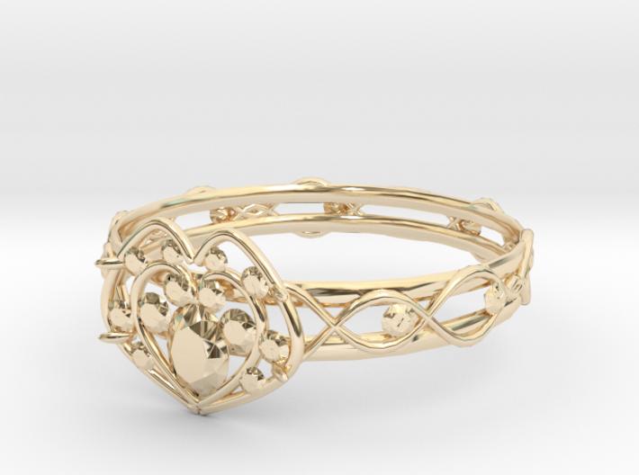 Heart ring(Japan 10,USA 5.5,Britain K) 3d printed