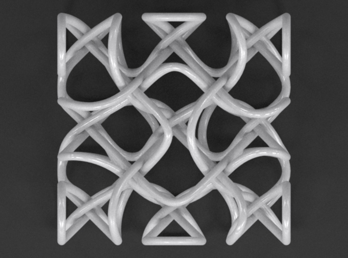 Hexad Knot Cube 3d printed